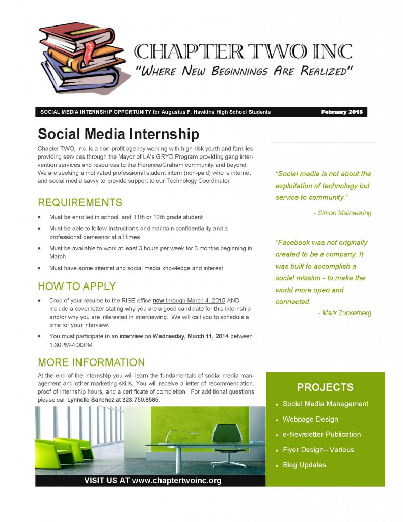 INTERNSHIP FLYER- AFHHS.SocialMedia