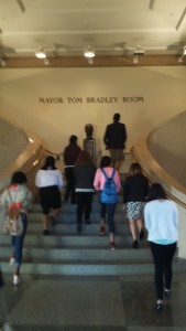 The Steps to Mayor Tom Bradley Room