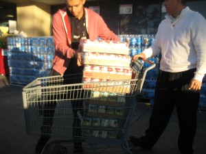 Loading Canned Goods
